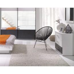 Commode contemporaine pour chambre à coucher RENATO. Coloris blanc.