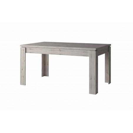 Table de salle à manger 160 cm de la collection IRON. Coloris chêne naturel Wellington. Meuble design et contemporain.