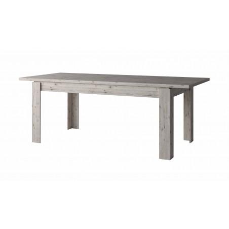 Table de salle à manger extensible 180-220 cm de la collection IRON. Coloris chêne naturel Wellington.