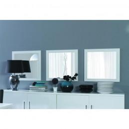 Lot de 3 miroirs AVIGNON. Cadre blanc brillant. Accessoire idéal pour la décoration de votre salon ou salle à manger