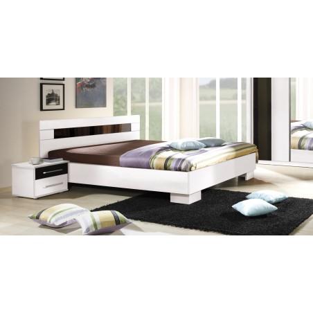 Lit DUBLIN blanc 160 x 200 cm, idéal pour chambre à coucher. Meuble design