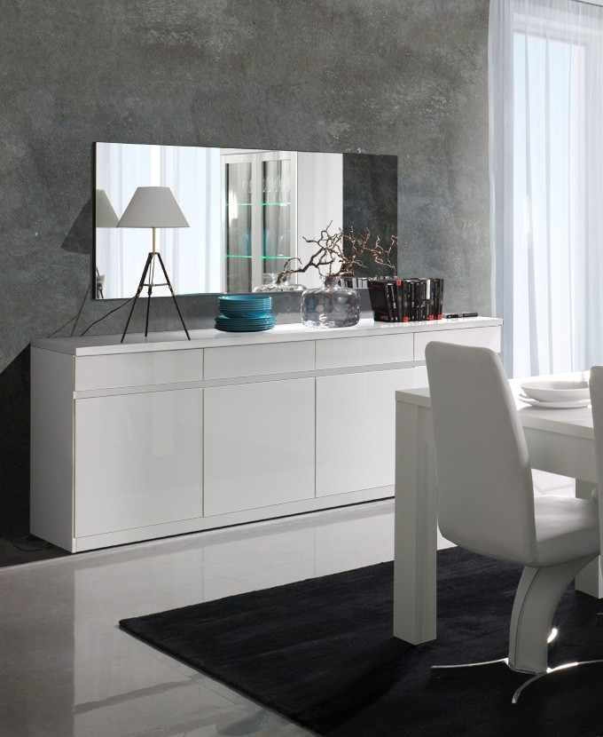 salle manger buffet bahut enfilade 4 portes et 4 tiroirs miro. Black Bedroom Furniture Sets. Home Design Ideas