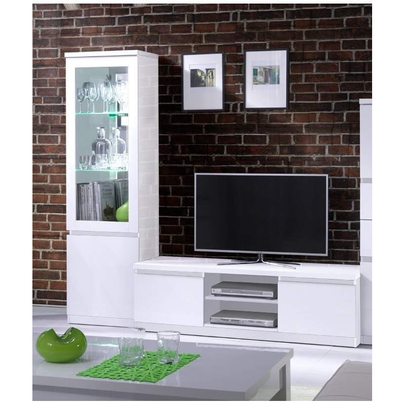 ensemble pour votre salon fabio meuble tv hifi vitrine petit mod. Black Bedroom Furniture Sets. Home Design Ideas