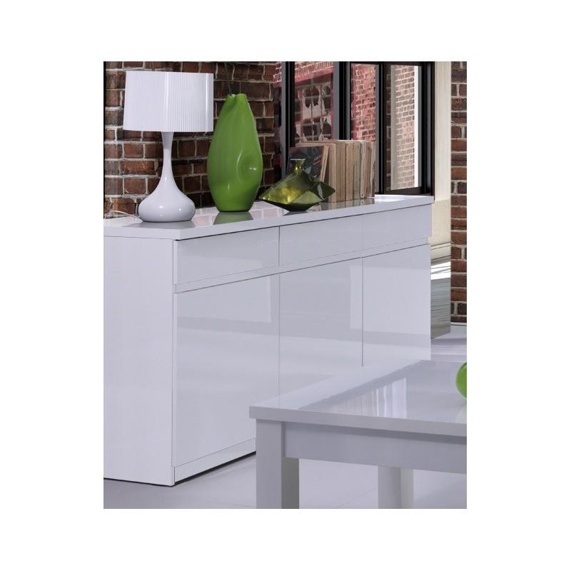 buffet bahut enfilade 3 portes et 3 tiroirs fabio miroir color. Black Bedroom Furniture Sets. Home Design Ideas
