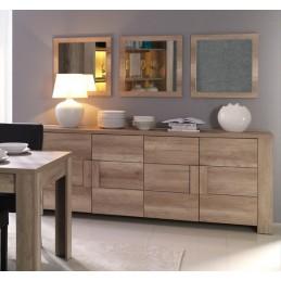 Buffet, bahut, enfilade grand modèle FERRARA 4 portes. Meuble design et tendance pour votre salon ou salle à manger