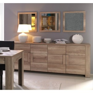 Buffet, bahut, enfilade grand modèle FARRA 4 portes. Meuble design et tendance pour votre salon ou salle à manger.