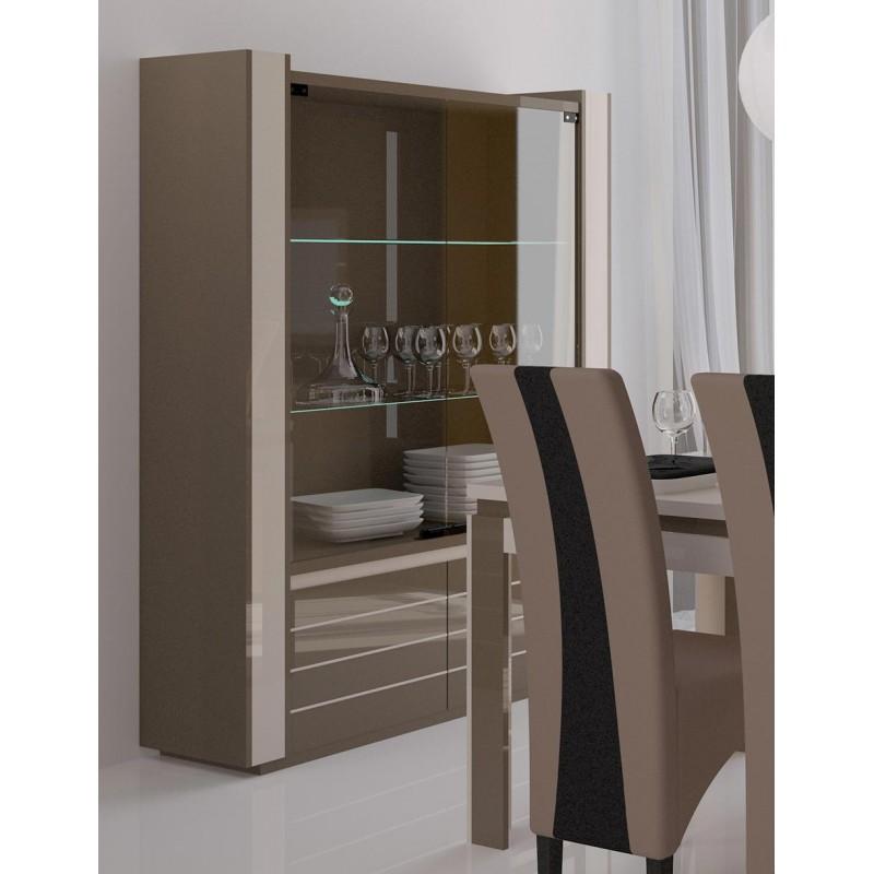 vitrine argentier vaisselier lina led coloris. Black Bedroom Furniture Sets. Home Design Ideas