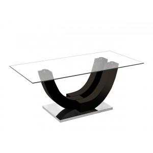 Table basse ALVARO. Noir laqué