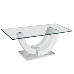 Table basse ALVARO. Blanc laqué