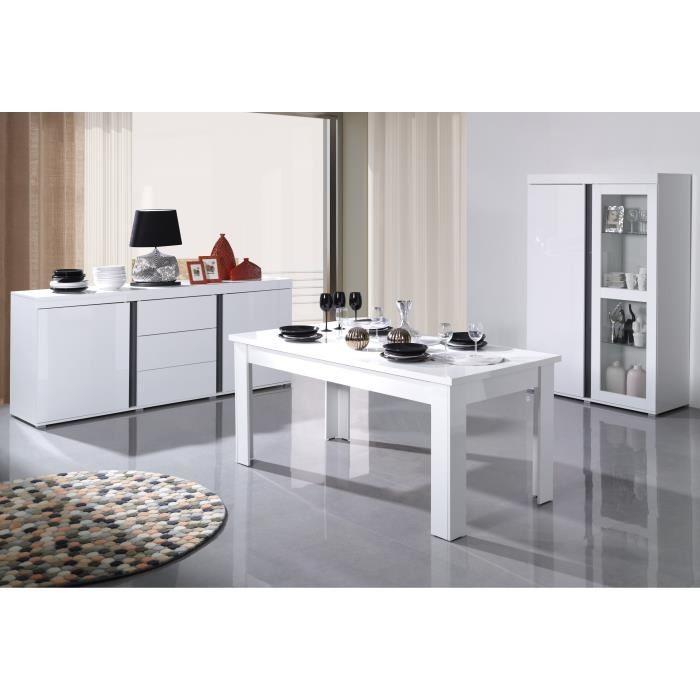 vitrine vitrine argentier vaisselier avignon blanche. Black Bedroom Furniture Sets. Home Design Ideas