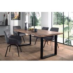 Table à manger design rectangulaire NIKO - Bois massif