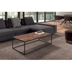 Table Basse rectangulaire GOA en magnolia massif. Meuble en bois exotique