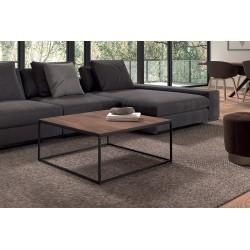Table Basse carré GOA en magnolia massif. Meuble en bois exotique