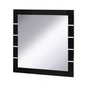 Lot de 3 miroirs LINA noir et  blanc brillant