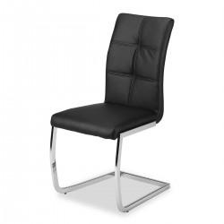 Chaises (x2) design EVY coloris Noir pour votre salle à manger. (lot de 2)