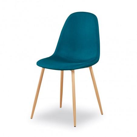 Chaises design (X4) coloris Bleu pour votre salle à manger.