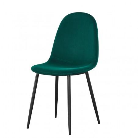 Chaises design (X4) BOYLD coloris Vert, pieds couleur noir pour votre salle à manger.