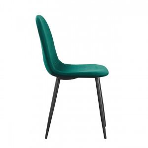 Chaises design BOYLD coloris Vert, pieds couleur noir pour votre salle à manger.
