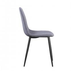 Chaises design BOYLD coloris Gris, pieds couleur noir pour votre salle à manger.