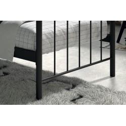 Lit 1 place métal noir 90x200 SENCHA style contemporain.