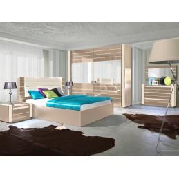 ... Commode LINA + LED Cappuccino Et Blanche Crème Laquée Design. Meuble  Idéal Pour Votre Chambre