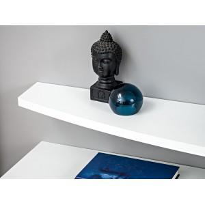 Ensemble de meubles pour votre salon FAST. Composition murale coloris blanc et noir brillant. LED incluses