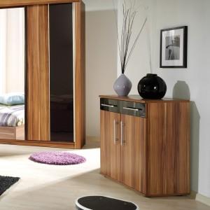 Commode couleur bois naturel DUBLIN 2 tiroirs et 2 portes.