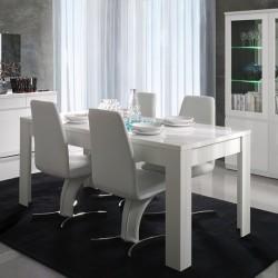 Table pour salle à manger FABIO. Dimensions 180 cm. Coloris Blanc.
