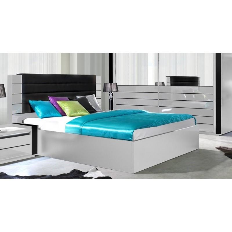lit adulte blanc cool lit coffre dans lit adulte achetez au meilleur prix avec publicit with. Black Bedroom Furniture Sets. Home Design Ideas