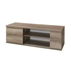 Meuble tv design ROMI couleur chêne. Idéal pour poser votre télévision et meubler votre salon.