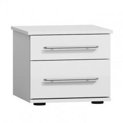Ensemble chambre complète VERONA : Lit 180x200 avec option coffre, 2 chevets, armoire, commode.