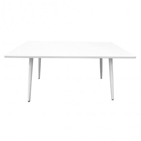 Table 200 x 100 Collection RENNES pieds métal et plateau blanc. Table design.