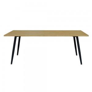 Table 160 x 100 Collection SILVA pieds métal et plateau effet bois. Table design.
