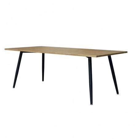 Table 160 x 90 Collection SILVA pieds métal et plateau effet bois. Table design.