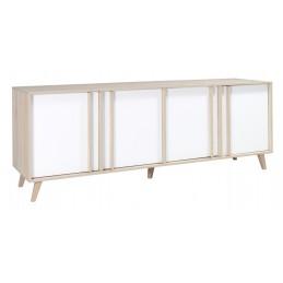Buffet, enfilade, bahut GM MALMO + 3 miroirs. Meuble design type SCANDINAVE. Effet ultra tendance pour votre salon