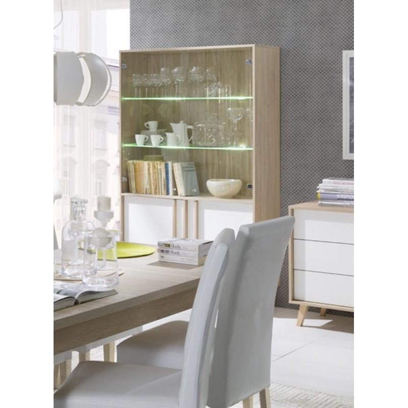 salle manger vitrine vaisselier argentier malmo grand. Black Bedroom Furniture Sets. Home Design Ideas