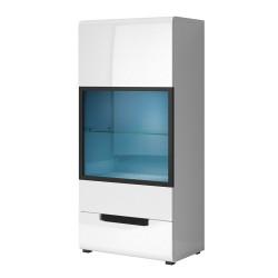 Vaisselier, bibliothèque, vitrine,  LUCIA moyen modèle + LED. Meuble design idéal pour votre salle à manger.