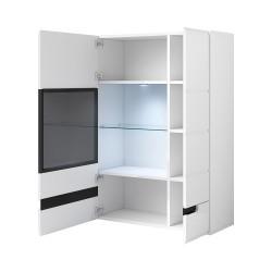 Bibliothèque, vitrine, vaisselier + LED collection LUCIA. Modèle XL. Meuble design.