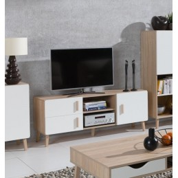 meuble tv hifi pour salon en promo price factory. Black Bedroom Furniture Sets. Home Design Ideas