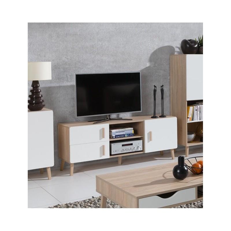 Salon Meuble Tv Oslo Meuble Design Type Scandinave Effet Ultra Te
