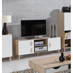 Meuble TV OSLO. Meuble design type SCANDINAVE. Effet ultra tendance pour votre salon