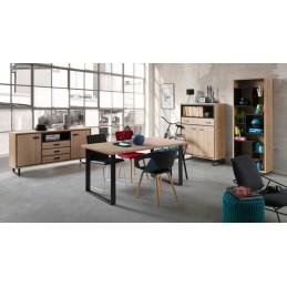 Ensemble pour salle à manger, buffet + bibliothèque + colonne + table 160 SOLO idéal pour votre salle à manger