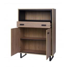 Buffet haut, bar, bibliothéque, argentier, SOLO design 2 portes et 1 tiroir. Idéal pour votre salon ou salle à manger