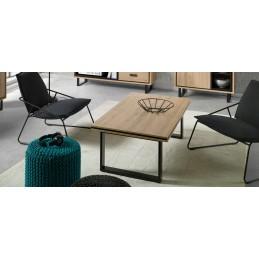 Table basse SOLO rectangle avec pieds en metal, idéal pour votre salon