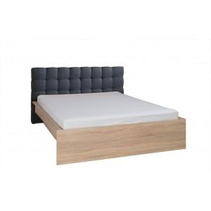 Ensemble pour chambre à coucher MAXIM. Lit adulte deux places 160x200 cm + tiroir + sommier + deux chevets