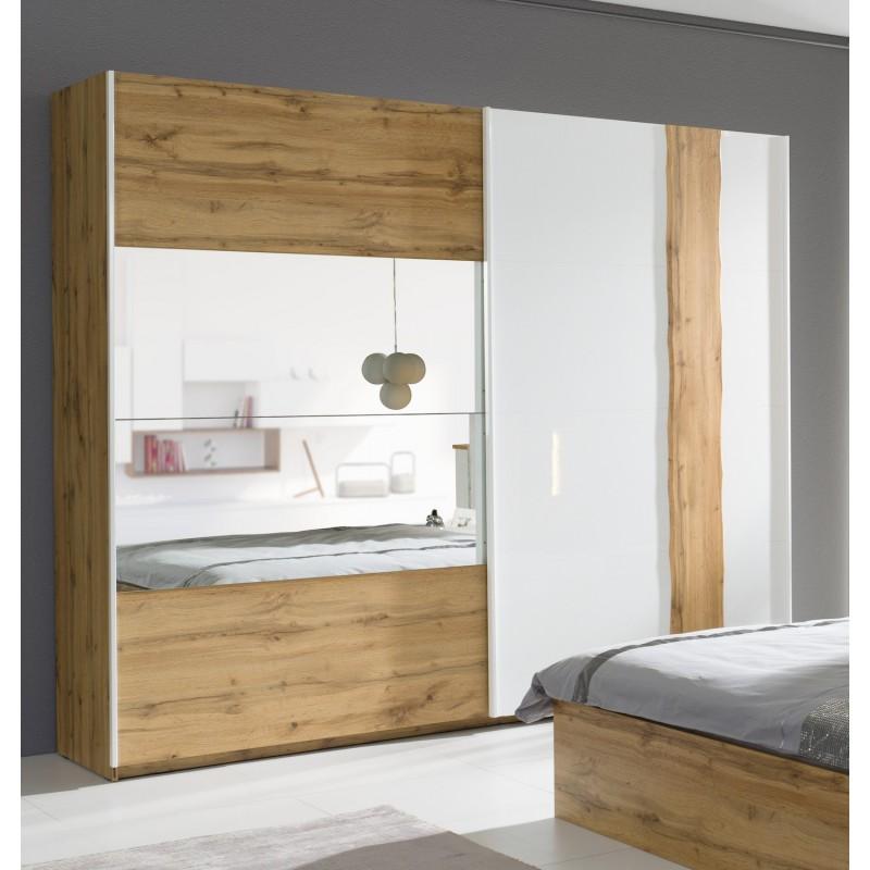 Chambre à Coucher Armoire Garde Robe Wood Deux Portes Coulissantes