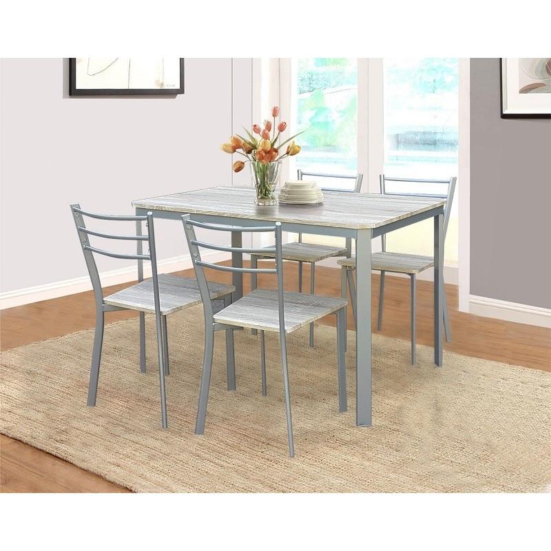 Gentil ENSEMBLE TABLE ET CHAISES Table De Cuisine Et Salle à Manger + 4 Ch.