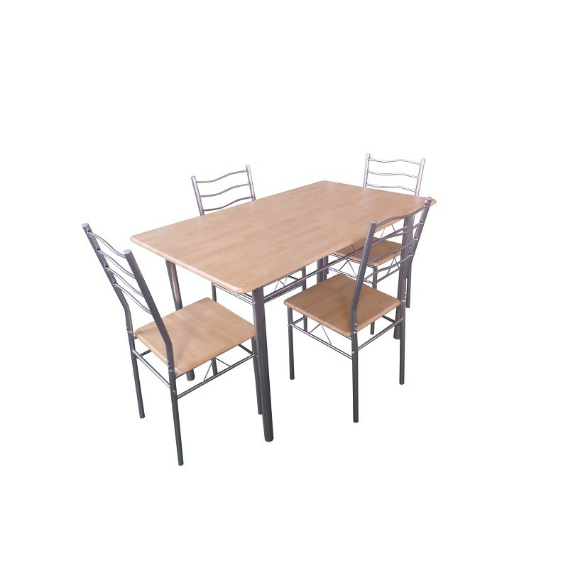table de cuisine et salle manger 4 chaises baremen coloris boi. Black Bedroom Furniture Sets. Home Design Ideas