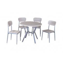 1 table ronde et 4 chaises...