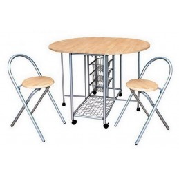 1 Table ronde pliable + 2...